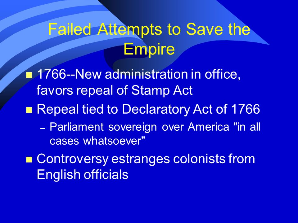 Failed Attempts to Save the Empire