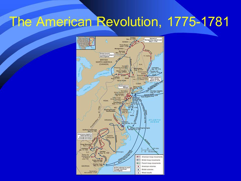 The American Revolution, 1775-1781
