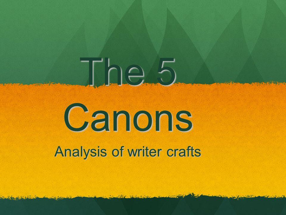 Analysis of writer crafts