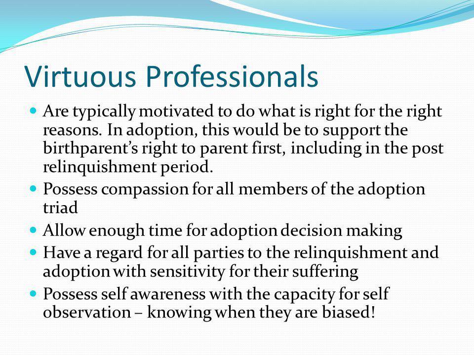 Virtuous Professionals