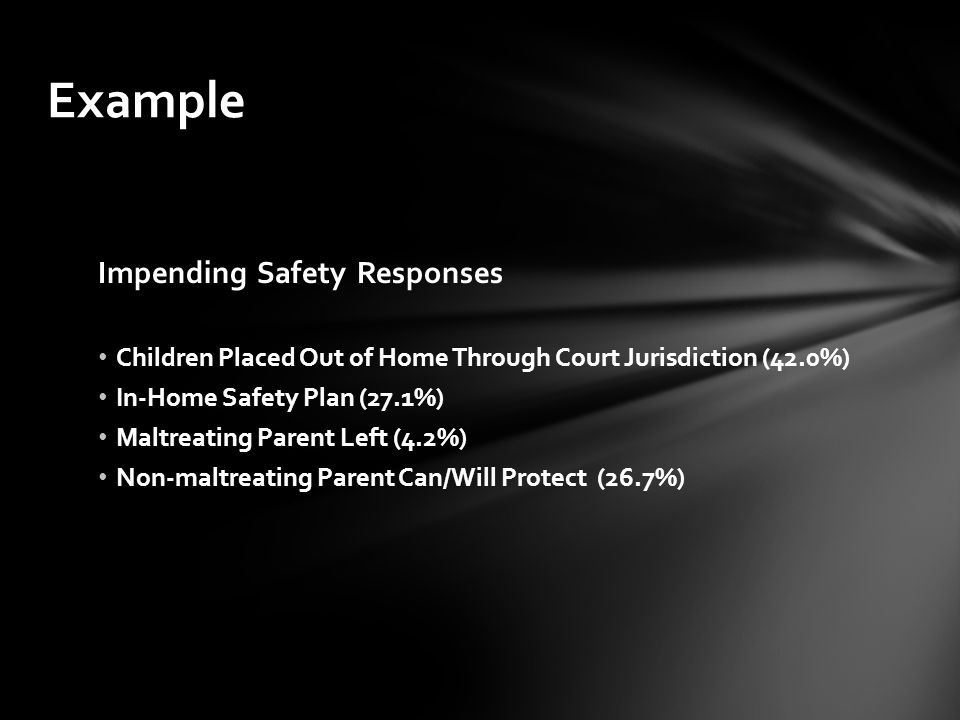 Example Impending Safety Responses