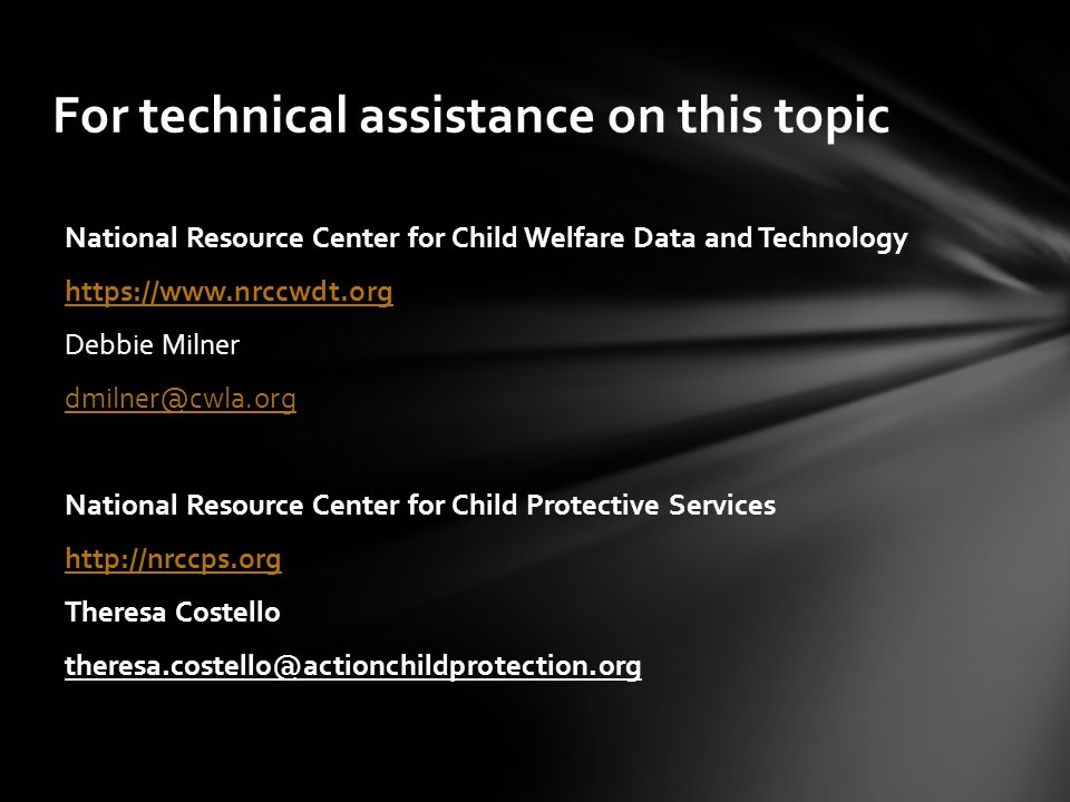 For technical assistance on this topic