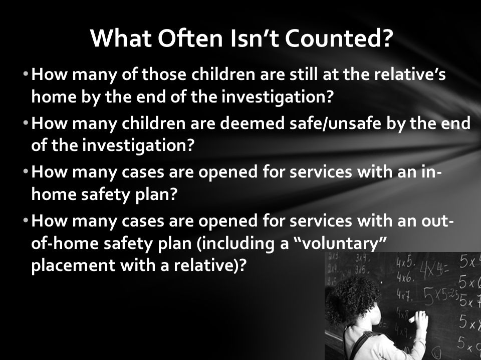 What Often Isn't Counted