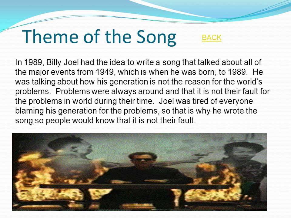 Theme of the Song BACK.