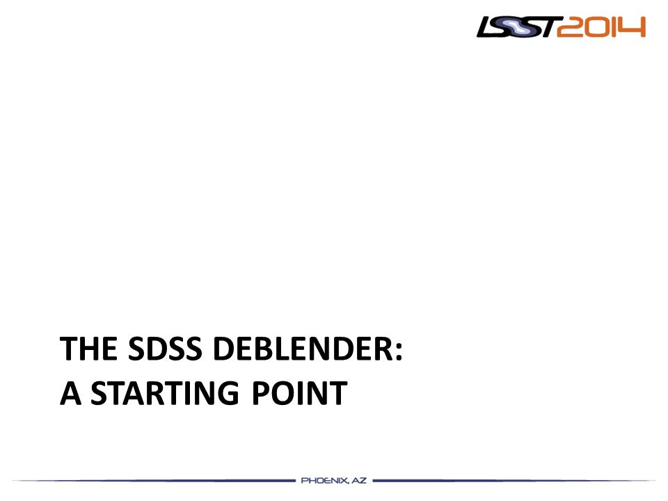 The SDSS Deblender: a Starting point