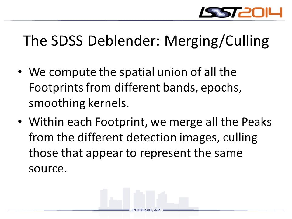 The SDSS Deblender: Merging/Culling