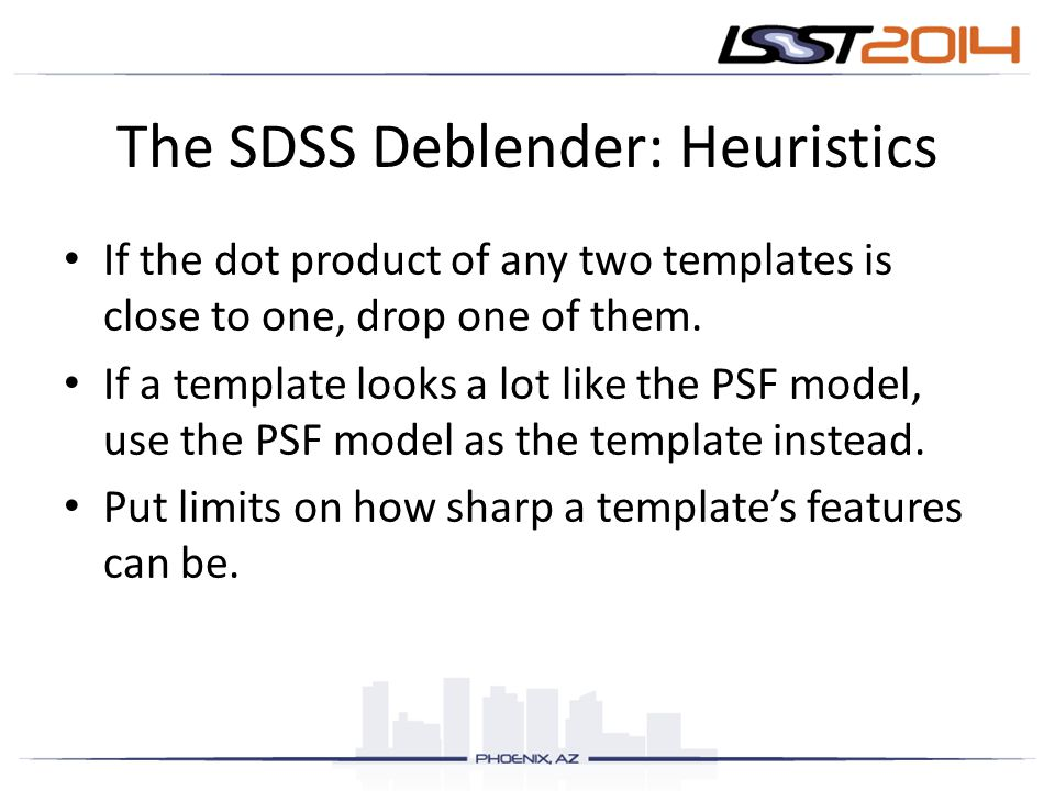 The SDSS Deblender: Heuristics