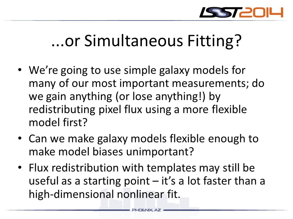 ...or Simultaneous Fitting