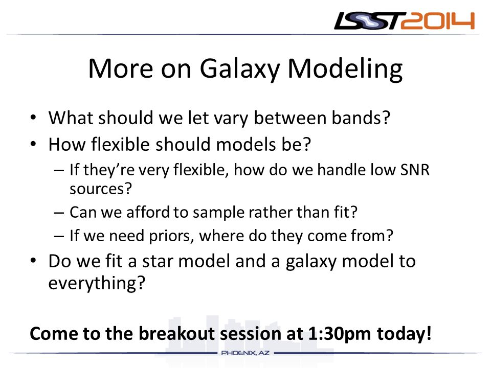 More on Galaxy Modeling
