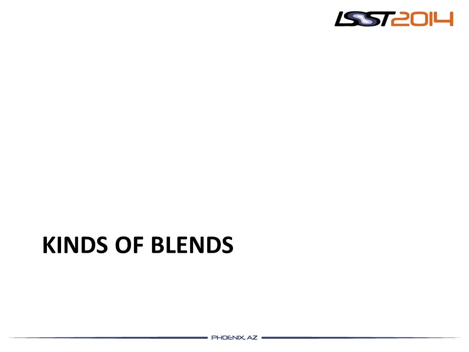 Kinds of Blends