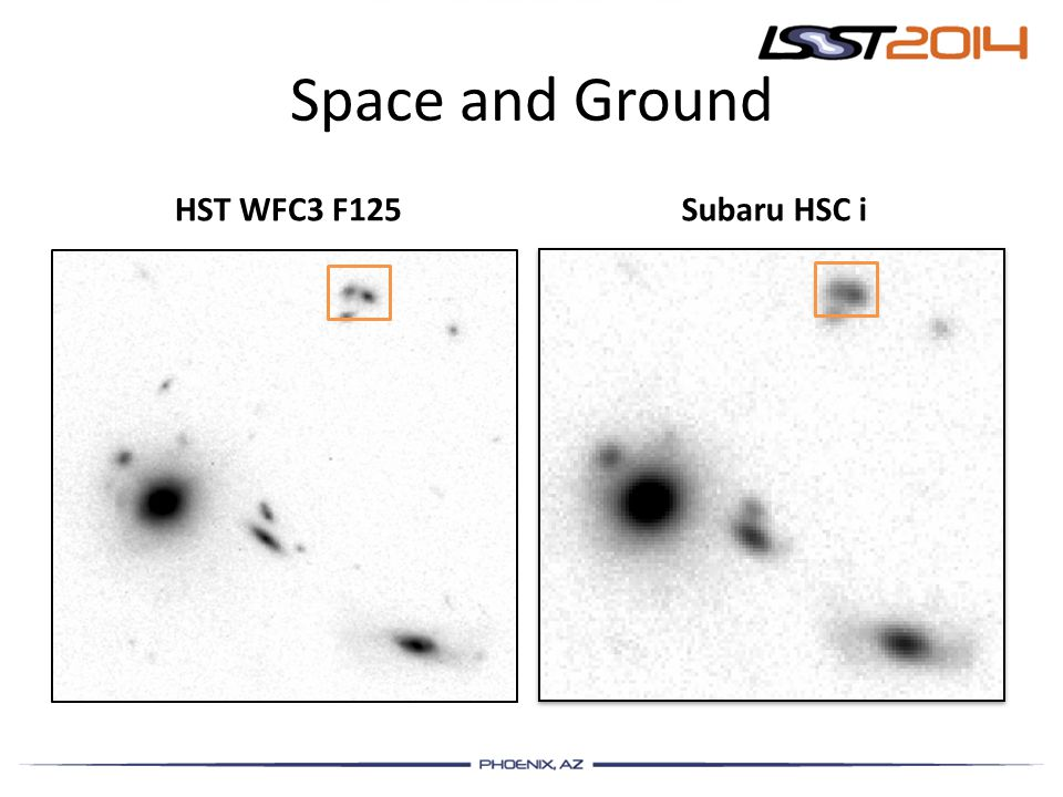Space and Ground HST WFC3 F125 Subaru HSC i