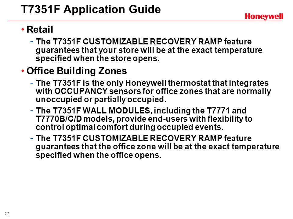 T7351F Application Guide Retail Office Building Zones