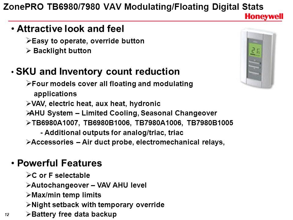 ZonePRO TB6980/7980 VAV Modulating/Floating Digital Stats