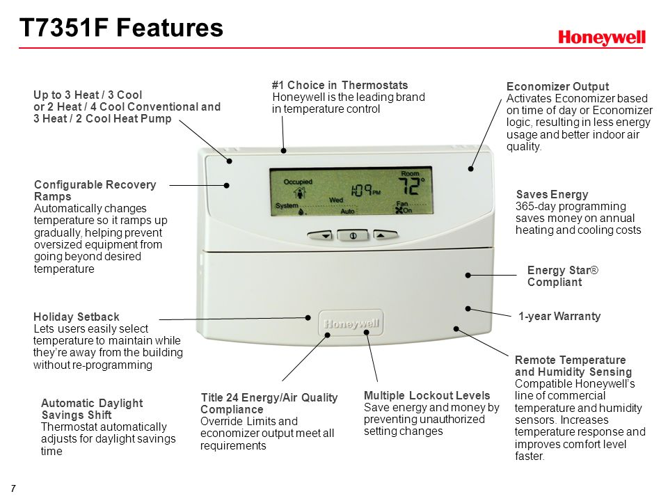 T7351F Features #1 Choice in Thermostats