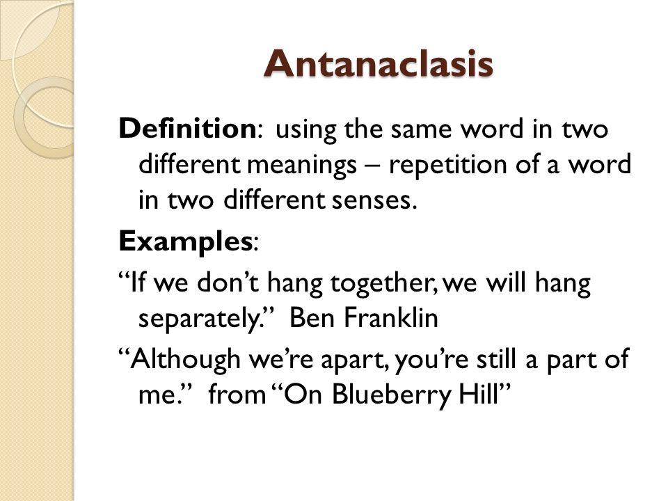Antanaclasis