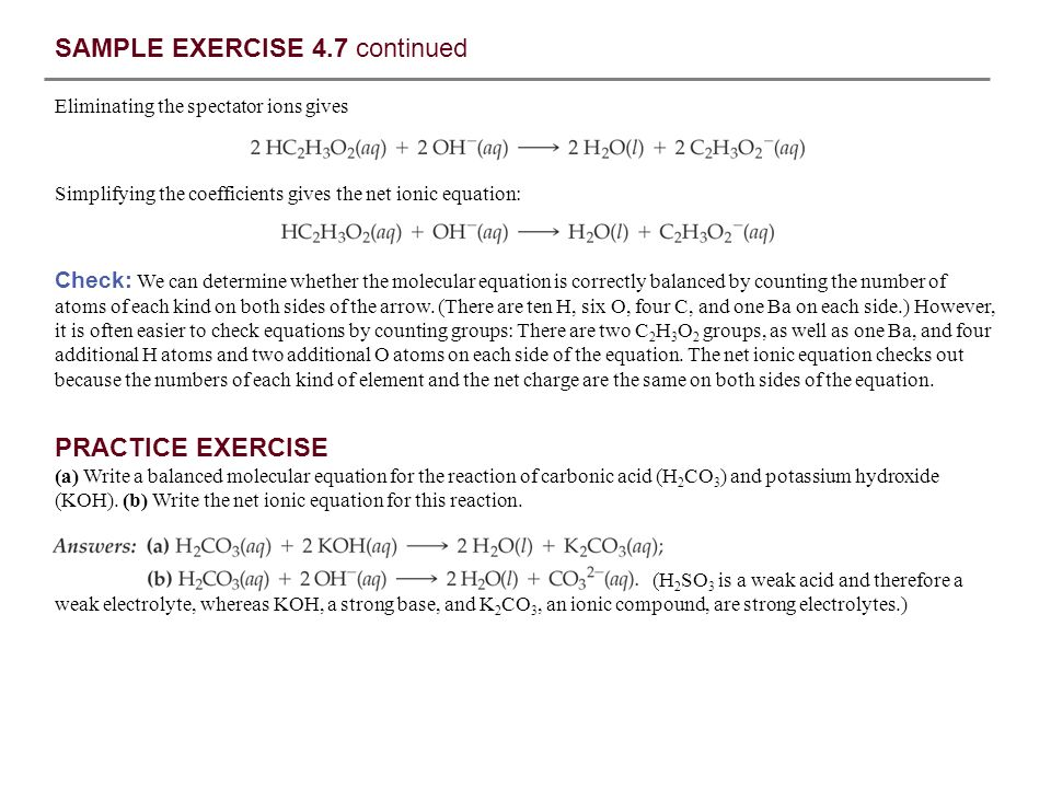 SAMPLE EXERCISE 4.7 continued
