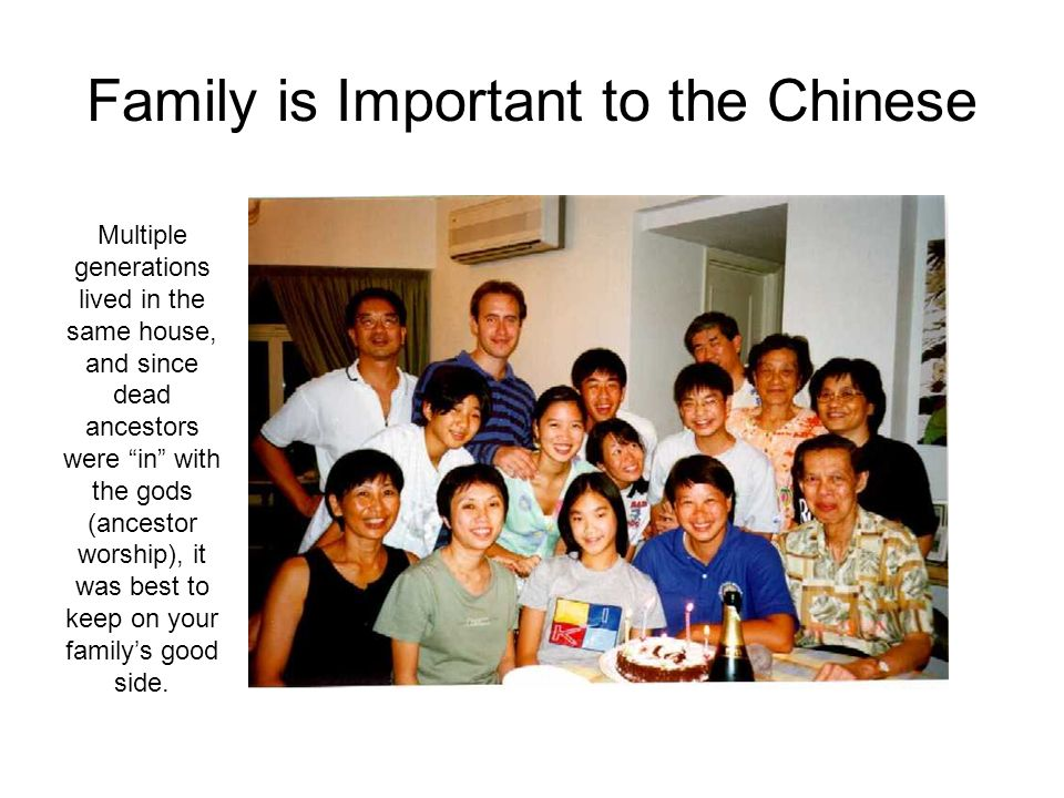 Family is Important to the Chinese