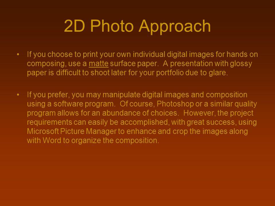 2D Photo Approach