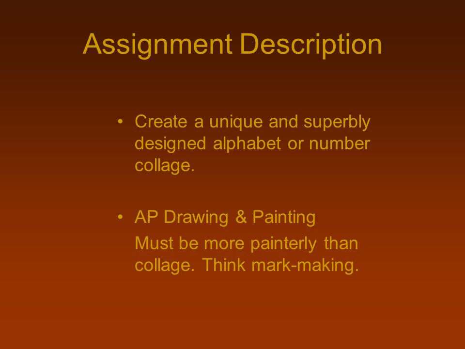 Assignment Description