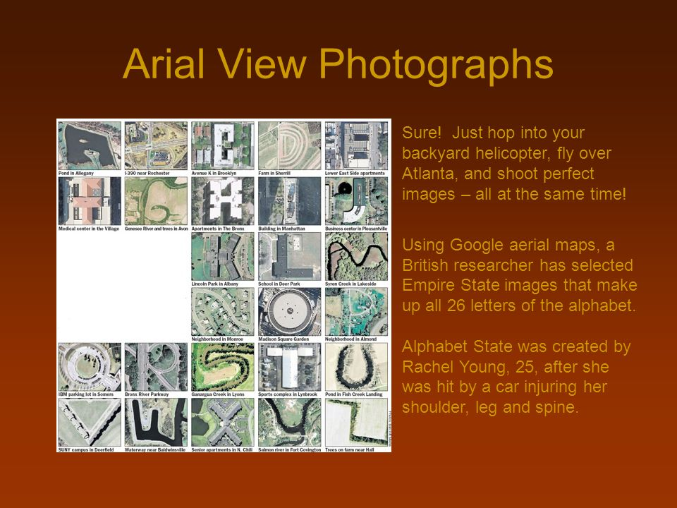 Arial View Photographs
