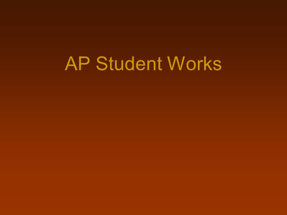 AP Student Works