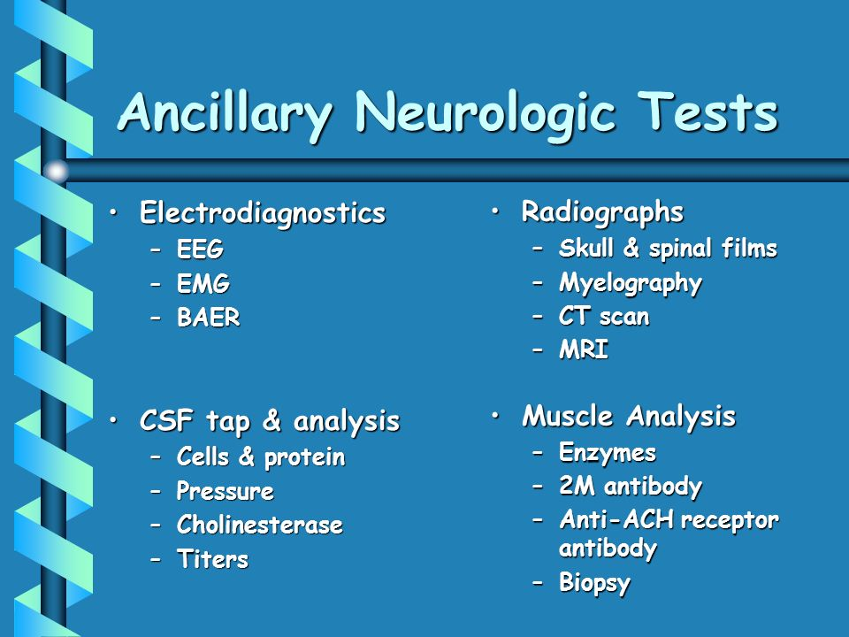 Ancillary Neurologic Tests