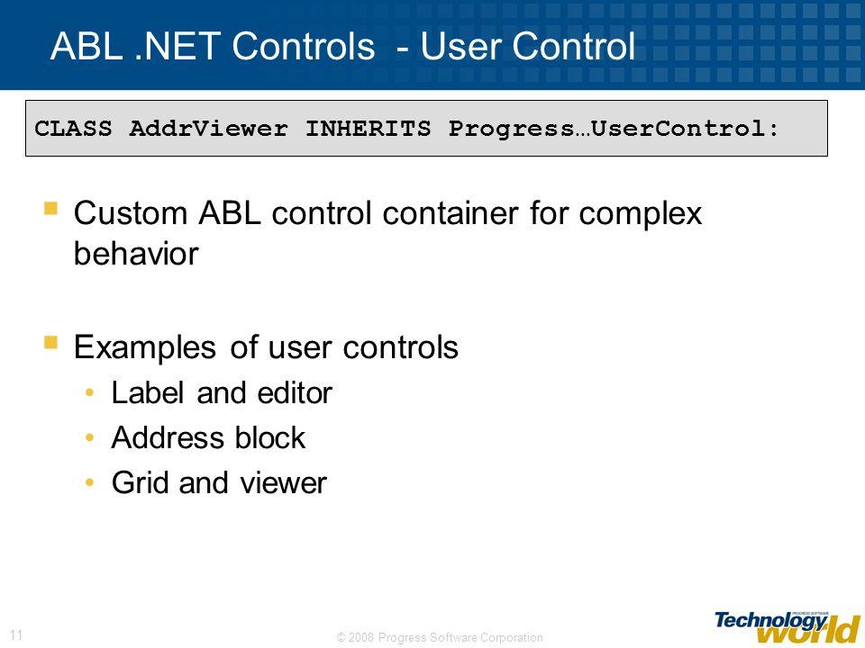 ABL .NET Controls - User Control