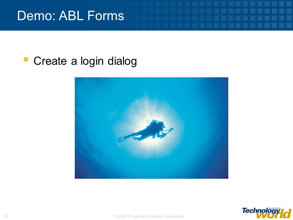 Demo: ABL Forms Create a login dialog