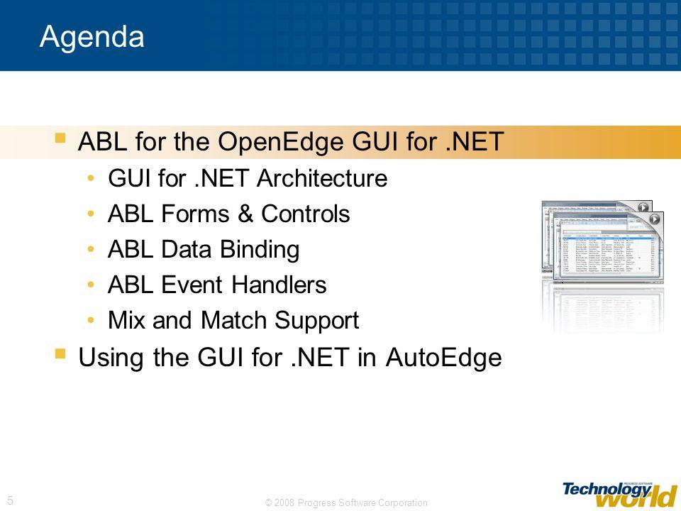 Agenda ABL for the OpenEdge GUI for .NET