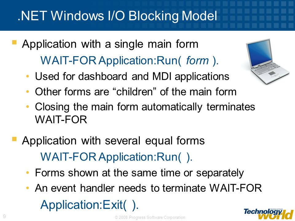 .NET Windows I/O Blocking Model