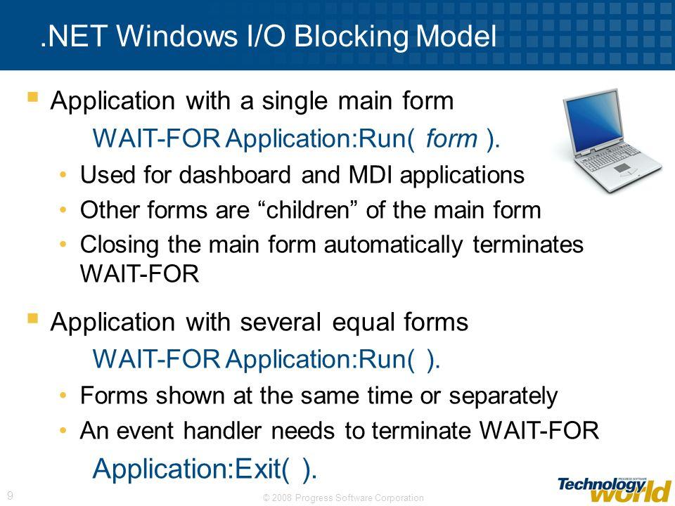 .NET Windows I/O Blocking Model
