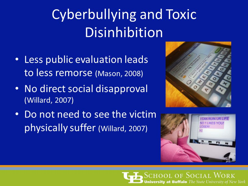 Cyberbullying and Toxic Disinhibition