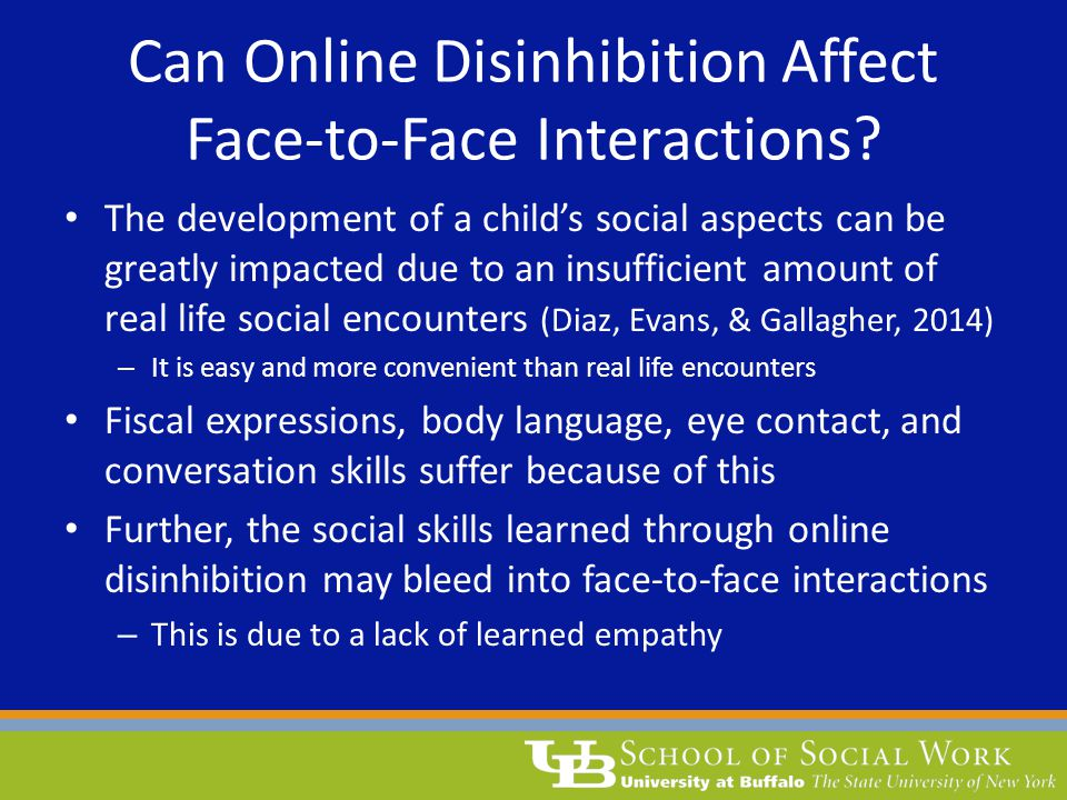 Can Online Disinhibition Affect Face-to-Face Interactions