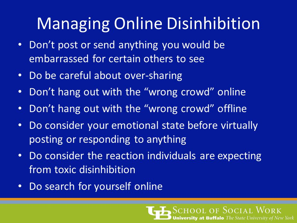 Managing Online Disinhibition