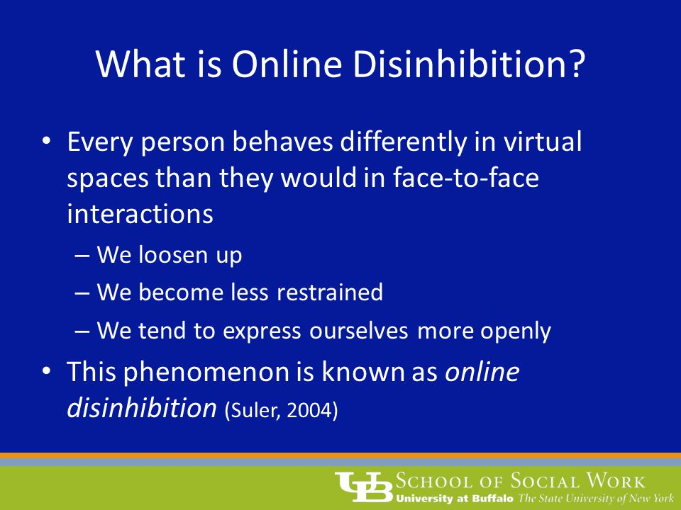 What is Online Disinhibition