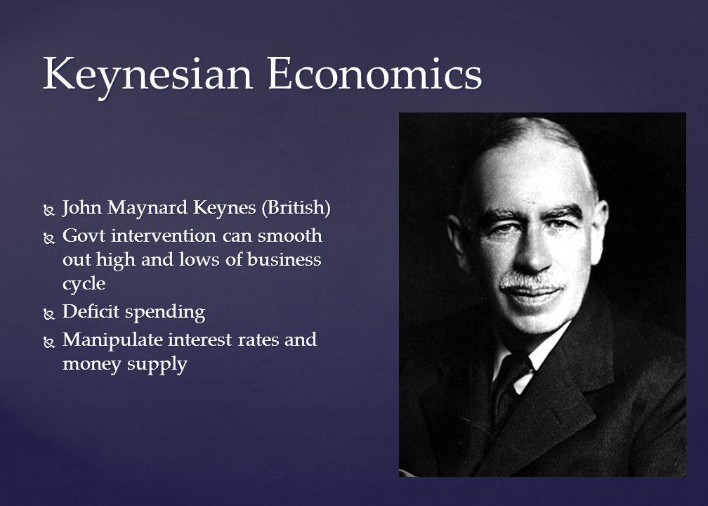 Keynesian Economics John Maynard Keynes (British)