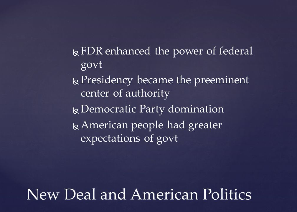 New Deal and American Politics