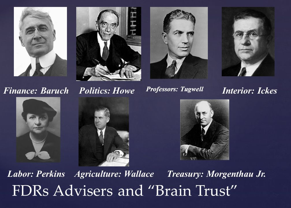 FDRs Advisers and Brain Trust