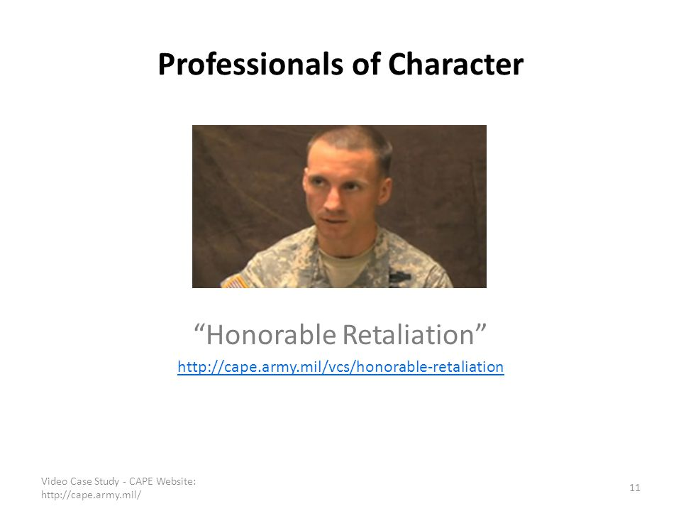Professionals of Character