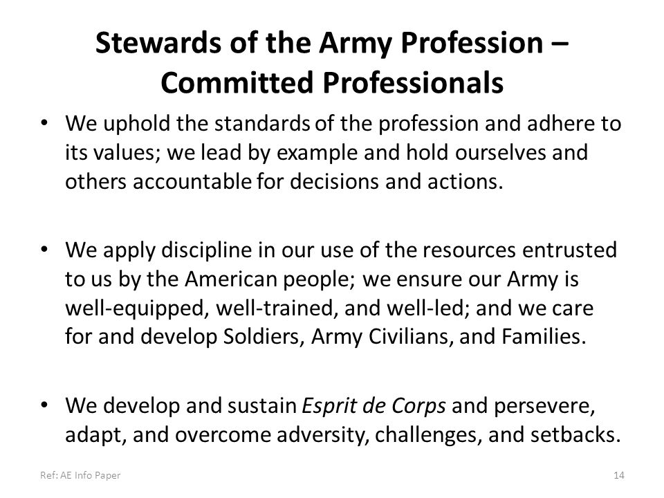 Stewards of the Army Profession – Committed Professionals