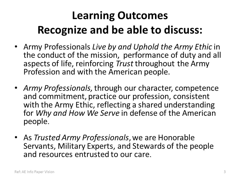 Learning Outcomes Recognize and be able to discuss: