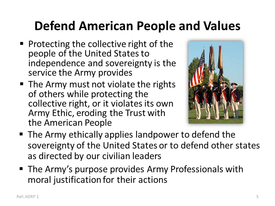 Defend American People and Values