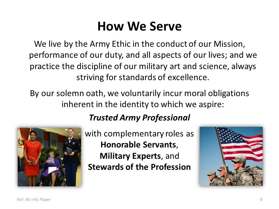 Trusted Army Professional Stewards of the Profession