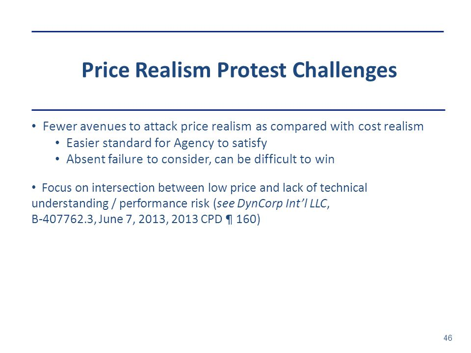 Price Realism Protest Challenges