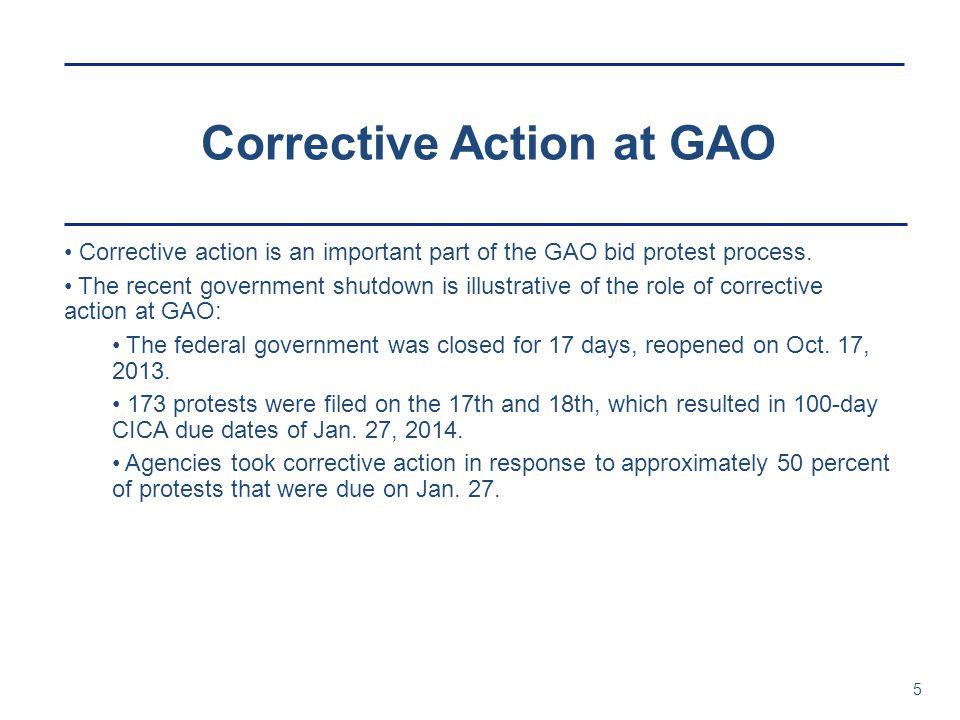 Corrective Action at GAO