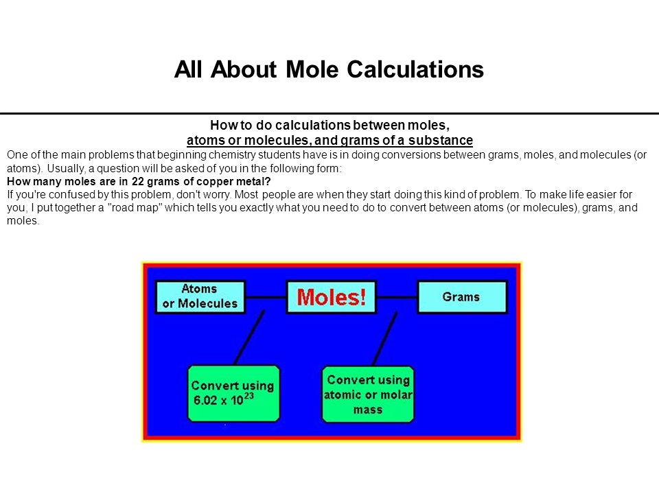 All About Mole Calculations