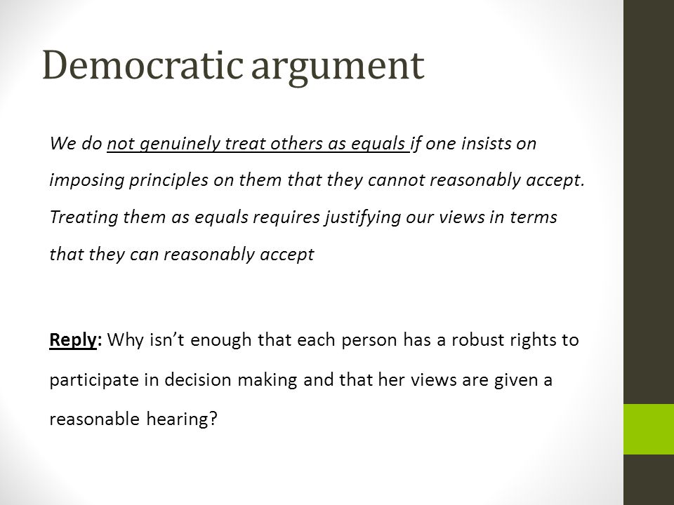Democratic argument