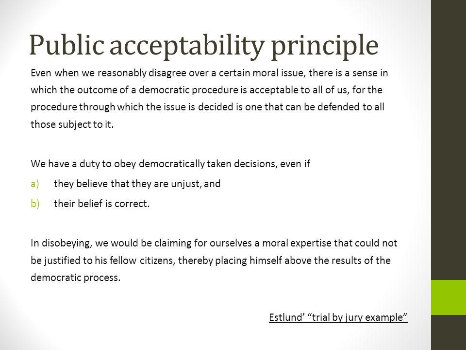 Public acceptability principle