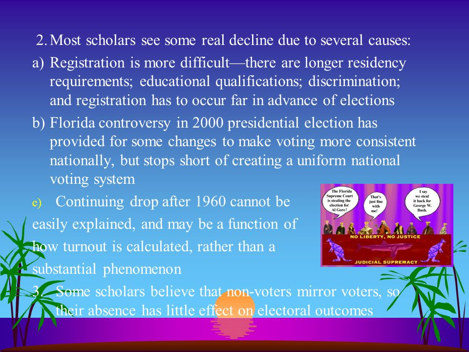 2. Most scholars see some real decline due to several causes:
