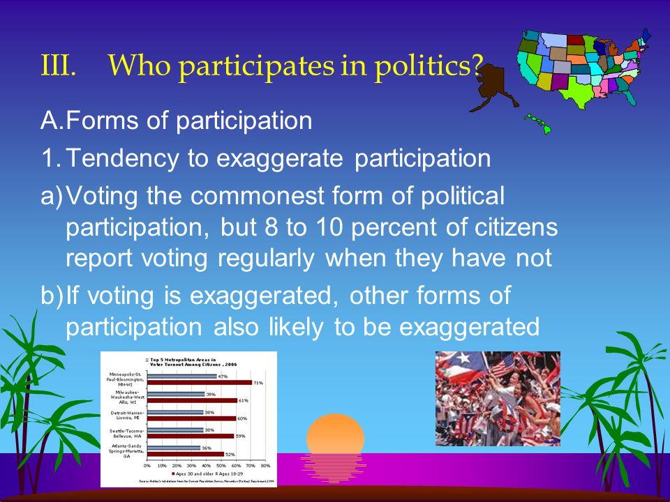 III. Who participates in politics